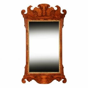 Georgian Style Burr Walnut Mirror