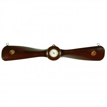 French Mahogany Propeller Barometer