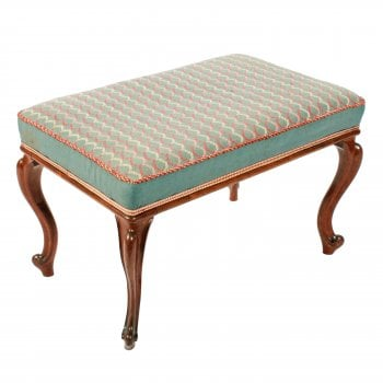 Victorian Oblong Rosewood Stool SOLD