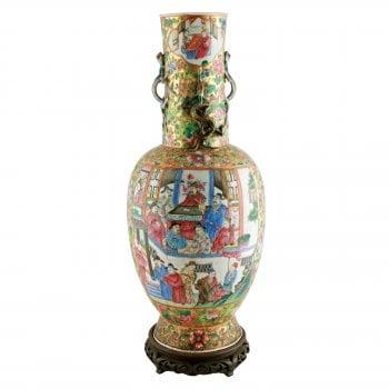 19th Century Chinese Canton Vase