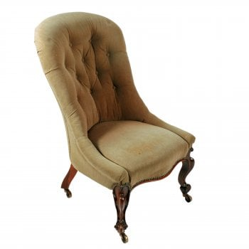 Victorian Rosewood Slipper Chair