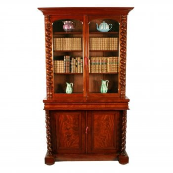 Victorian Mahogany Cabinet Bookcase