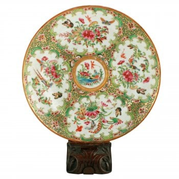 19th Century Chinese Canton Plate