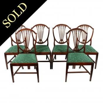 Set of Six Hepplewhite Chairs