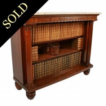 George IV Mahogany Open Bookshelves
