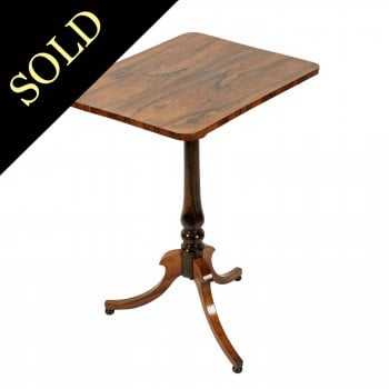 George IV Rosewood Lamp Table