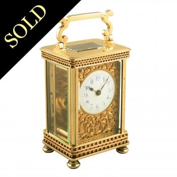 Victorian Brass Carriage Clock