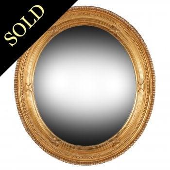 Victorian Oval Gilt Wall Mirror