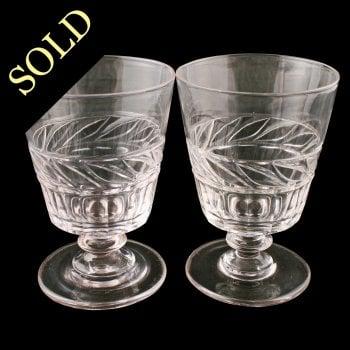 Pair of Georgian Glass Rummers