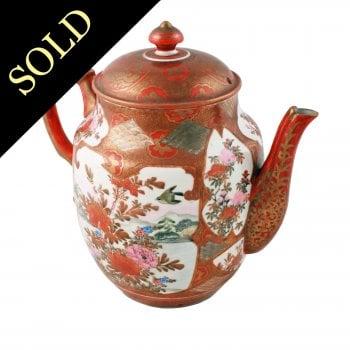 Japanese Kutani Porcelain Teapot