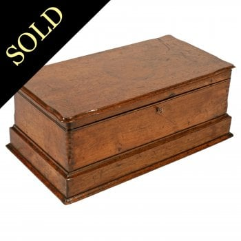 Late 19th Century Walnut Deed Box