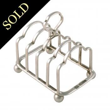 Scottish Sterling Silver Toast Rack