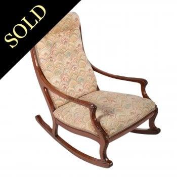 Victorian Mahogany Rocking Arm Chair