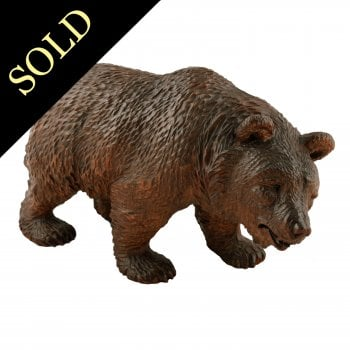 Swiss Carved Black Forest Bear