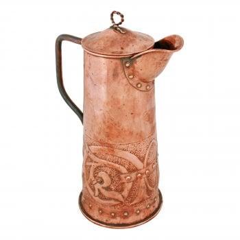 Arts & Crafts Copper Jug
