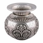 Continental Embossed Silver Vase