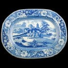 Early 19th Century Comb Back Meat Plate