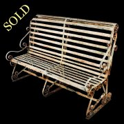 Edwardian Wrought Iron Bench