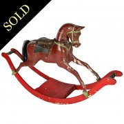 Victorian Carved Wood Rocking Horse