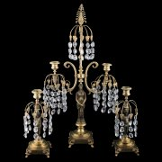 Regency Gilt Metal Candelabra & Candlesticks