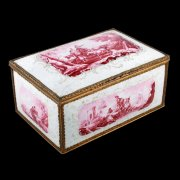 18th Century Battersea Enamel Casket