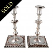 Georgian Silver Plated Candlesticks