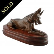 Bronze Model of a German Shepherd