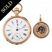 Gold Pocket Watch & Barometer