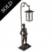 German Bronzed Metal Table Lamp