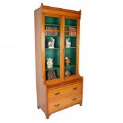 Victorian Oak Glazed Bookcase