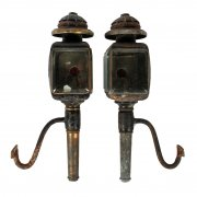 Pair of Danish Coaching Lamps