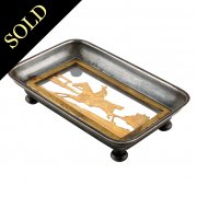 Steel & Gilt Metal Jockey Pin Tray