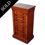 Fine Victorian Acacia Wood Collector's Cabinet