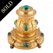 Victorian Gilt Brass Ink Well