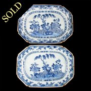 Pair of 18th Century Chinese Nanking Dishes