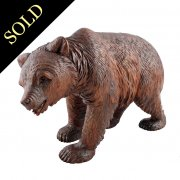 Black Forest Carved Wood Bear