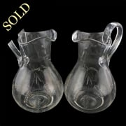 Pair of Glass Water Jugs