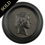 Bois Durci Medallion of Beethoven