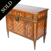 19th Century Dutch Parquetry Commode