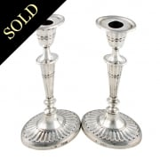 Pair of Georgian Style Sterling Silver Candlesticks