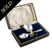Sterling Silver Egg Cup & Spoon