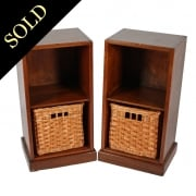 Pair of Teak Bedside Cabinets