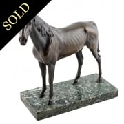 20th Century Bronze Race Horse