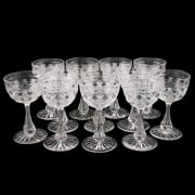 Eight Edwardian Dessert Wine Glasses