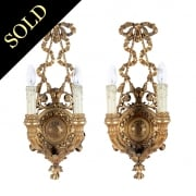 Pair of Gilt Wood Wall Lights