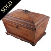 Victorian Figured Oak Jewel Box