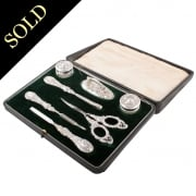 Edwardian Sterling Silver Manicure Set