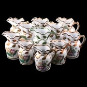 11 Livesley Powell & Co Ironstone Jugs