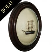 Victorian Oak Framed Ship Diorama