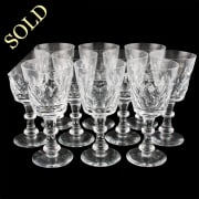 Ten French Red Wine Glasses